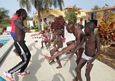 sport avec les enfants du cocon de cabrousse a sasensbon