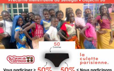 Précarité menstruelle au Sénégal – Objectif 50